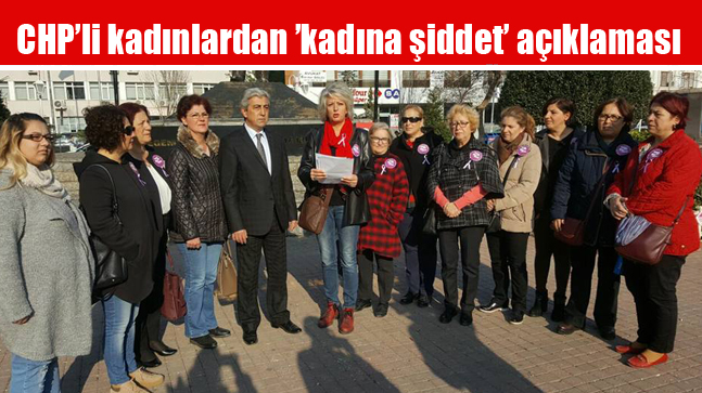 CHP'li kadınlardan 'kadına şiddet' açıklaması