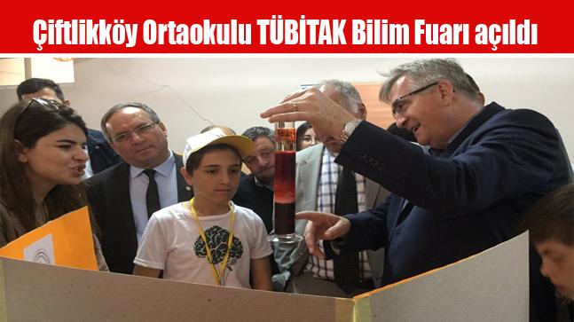 Çiftlikköy Ortaokulu TÜBİTAK Bilim Fuarı açıldı